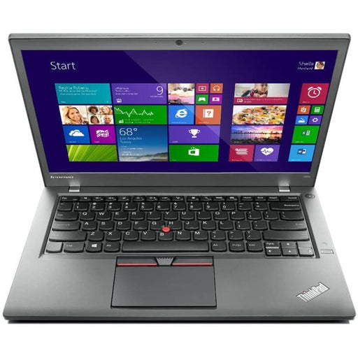 A front view of a Lenovo Thinkpad T460s -i5-6300U 2.4GHz |  8-16GB RAM | 128GB SSD - 256GB SSD - 512GB SSD (REFURBISHED) laptop