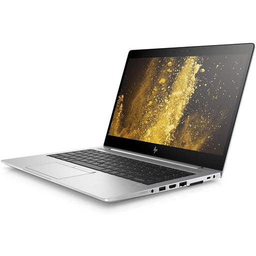 A front right side view of an HP EliteBook 840 G5 - i7-8650U 1.90 Ghz  | 8-16GB RAM | 256GB SSD - 512GB SSD (REFURBISHED) laptop