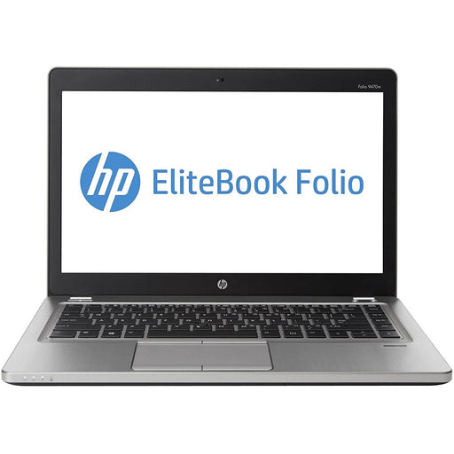 A front view of an EliteBook Folio 9470M - i5-3427u 1.80GHz | 8-16GB RAM | 128GB SSD - 256GB SSD - 512GB SSD (REFURBISHED) laptop
