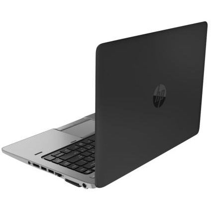 A back right side view of an HP EliteBook 820 G2 - i5-5300U 2.3GHz  | 8-16GB RAM | 25GB SSD - 512GB SSD (REFURBISHED) laptop
