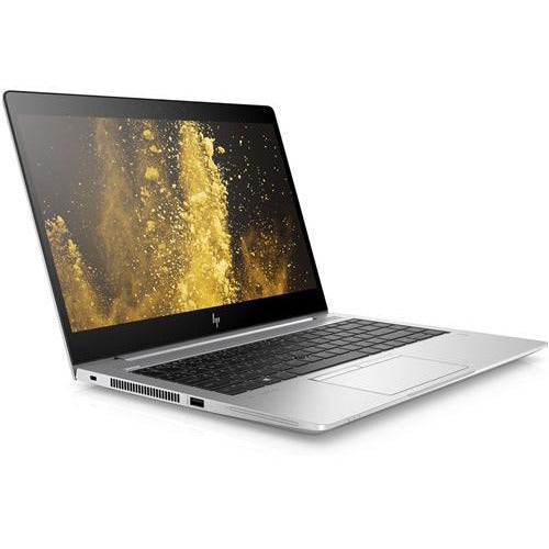 A front left side view of an HP EliteBook 840 G6 -i7-8665U 1.9 GHz |  8-16GB RAM | 128GB SSD - 256GB SSD - 512GB SSD (REFURBISHED) laptop