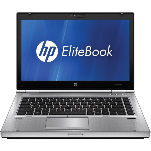 A front view of an HP EliteBook 8460p - i5-2520m 2.50 GHz | 8-16GB RAM | 25GB SSD - 512GB SSD (REFURBISHED) laptop