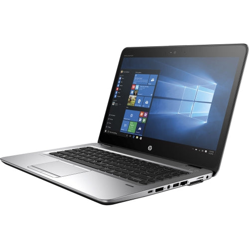 A front right side view of an HP EliteBook 840 G3 - I7-6600U 2.60GHz | 8-16GB RAM | 512GB SSD - 1TB SSD (REFURBISHED) laptop