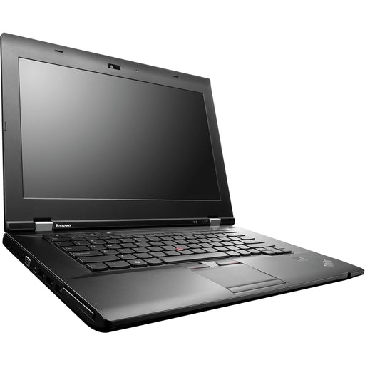 A front left side view of a Lenovo L530- i5-2520M  2.50GHz  | 8-16GB RAM | 256GB SSD - 512GB SSD  (REFURBISHED) laptop