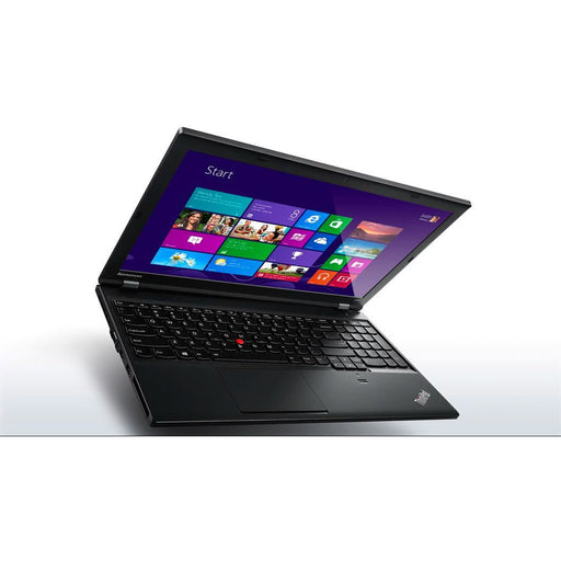 A front left side view of a Lenovo L540- i5-4210M  2.60GHz| 8-16GB RAM | 256GB SSD - 512GB SSD  (REFURBISHED) laptop