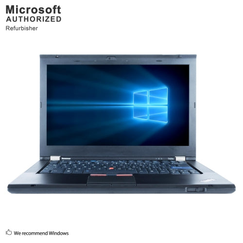 A front view of a Lenovo T420s-i5-2520M  2.50GHz  | 8-16GB RAM | 256GB SSD - 512GB SSD  (REFURBISHED) laptop
