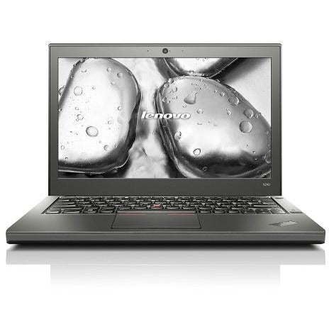 A front view of a Lenovo X240- i5-4300U 1.90GHz | 8-16GB RAM | 256GB SSD - 512GB SSD  (REFURBISHED) laptop