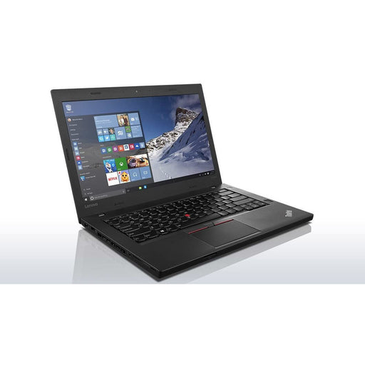 A front left side view of a Lenovo Thinkpad T460p -i5-6440HQ 2.60GHz  |8-16GB RAM | 128GB SSD - 256GB SSD - 512GB SSD (REFURBISHED) laptop