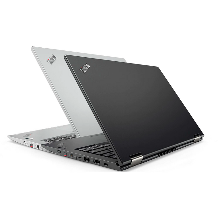 A back right side view of a Lenovo X380 Yoga - i5-8350U 1.70GHz | 8-16GB RAM | 256GB SSD - 512GB SSD (REFURBISHED) laptop