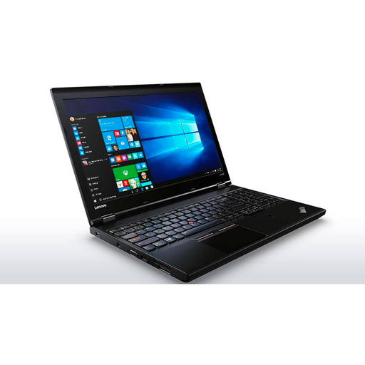 A front left side view of a Lenovo L560- i5-6200U 2.30GHz| 8-16GB RAM | 256GB SSD - 512GB SSD  (REFURBISHED) laptop