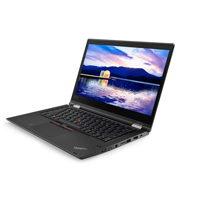 A front right side view of a Lenovo X380 Yoga - i5-8350U 1.70GHz | 8-16GB RAM | 256GB SSD - 512GB SSD (REFURBISHED) laptop