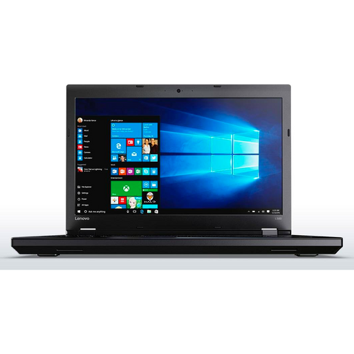 A front view of a Lenovo L560- i5-6200U 2.30GHz| 8-16GB RAM | 256GB SSD - 512GB SSD  (REFURBISHED) laptop