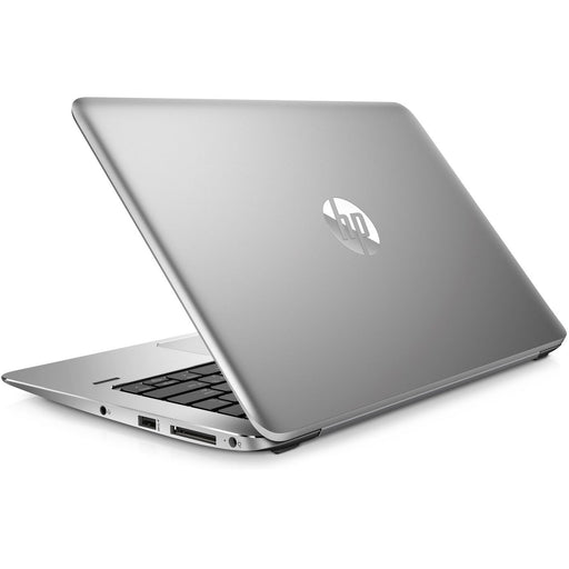 A back right side view of an HP EliteBook 1030 G1 - M7-6Y75 1.20GHz | 16GB RAM | 256GB NVMe SSD (REFURBISHED) laptop