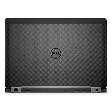 A back view of a Dell Latitude E7470 - i5-6300U 2.4 GHz |8-16GB RAM | 128GB SSD - 256GB SSD - 512GB SSD (REFURBISHED) laptop