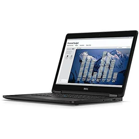 A front right side view of a Dell Latitude E7470 - i5-6300U 2.4 GHz |8-16GB RAM | 128GB SSD - 256GB SSD - 512GB SSD (REFURBISHED) laptop