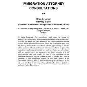 15-Minute Immigration Attorney Pinterest Consultation Packet - Rocket Immigration Petitions