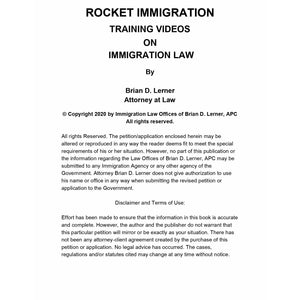H-2B Temporary Work Visa Training Course Access Packet - Rocket Immigration Petitions