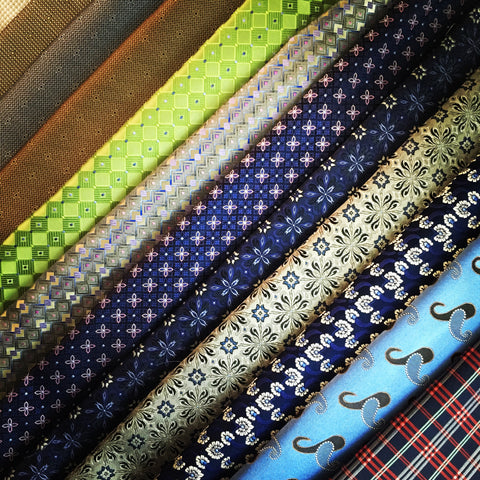 Available Silk Fabrics for making custom ties