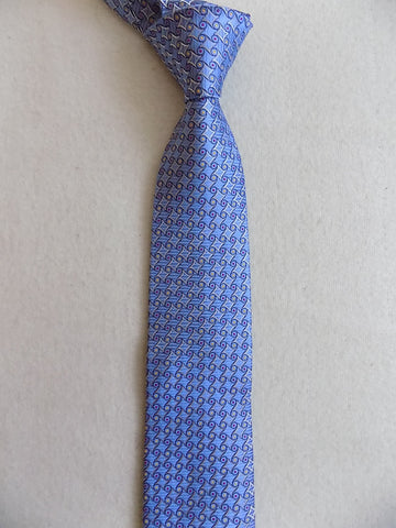 Light Blue Geometric Silk Tie RTW