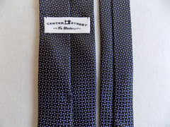 Brown and Navy Silk Tie RTW - Center Street Tie Makers
