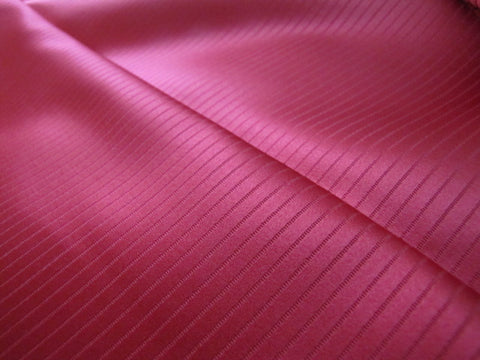 Bright Red Stripe Silk