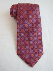 Red and Purple Geometric - Center Street Tie Makers