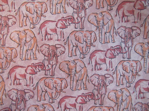 Elephants Pastel Twill