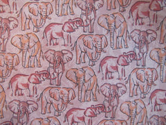 Elephants Pastel Twill - Center Street Tie Makers