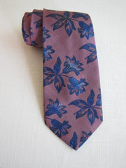 Pink and Blue English Silk Tie RTW - Center Street Tie Makers