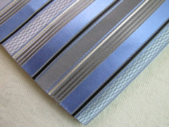 Blue and Gray Stripes - Center Street Tie Makers