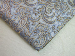 Light Tan and Blue Paisley - Center Street Tie Makers