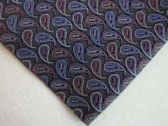 Black Blue and Pink Paisley - Center Street Tie Makers