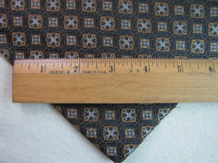 Brown Geometric Silk - Center Street Tie Makers