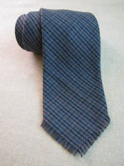 Vintage style Gray Stripe Wool Tie RTW - Center Street Tie Makers