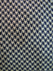 Navy Gold Houndstooth 7-Fold Silk Tie RTW - Center Street Tie Makers
