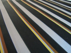 Black & Silver Stripe Silk