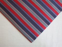 Red and Blue Stripe Silk - Center Street Tie Makers