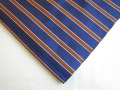 Royal blue with Brown Stripes - Center Street Tie Makers