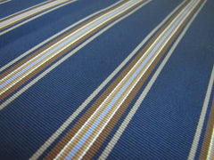 Conservative Blue & Brown Stripes - Center Street Tie Makers