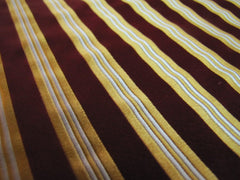 Red & Gold Stripes - Center Street Tie Makers