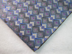 Gray Blue & Pink Geometric - Center Street Tie Makers