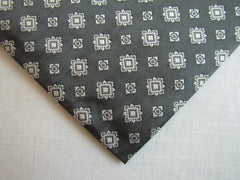 Dark Gray & White Geometric Square