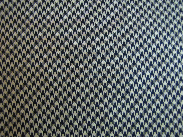 Dark Navy Blue & Gold Houndstooth