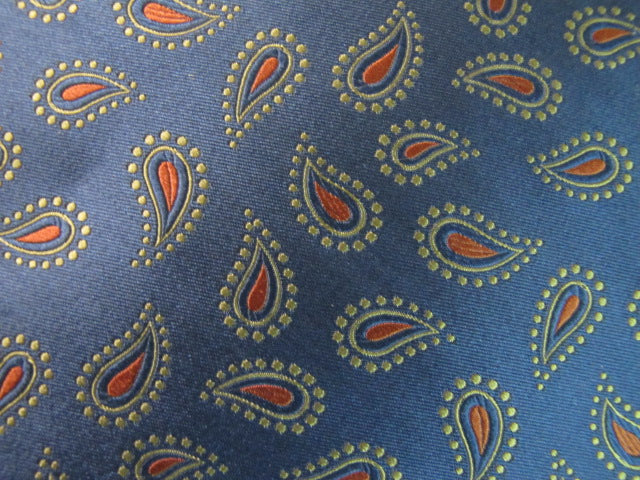 Deep Navy & Copper Paisley - Center Street Tie Makers