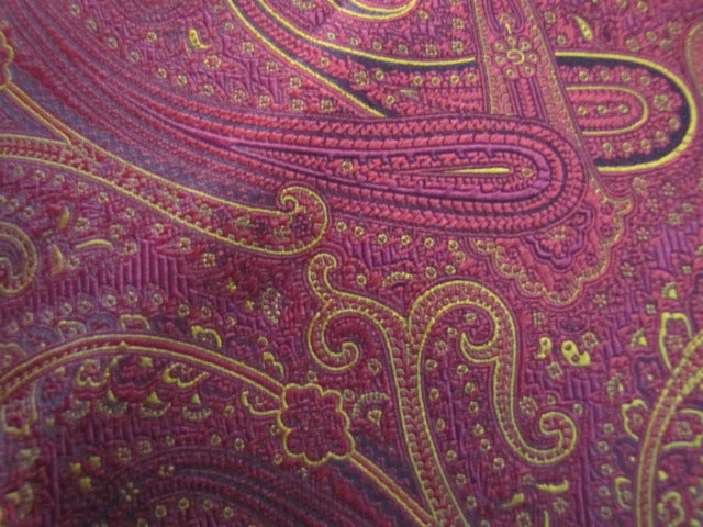 Red & Gold Paisley - Center Street Tie Makers