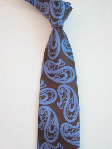 Brown with Large Blue Paisley