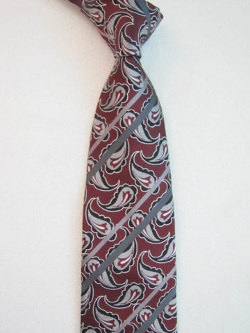 Red and Gray Paisley Stripes