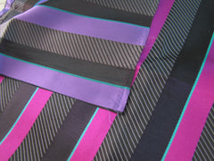 Black & Pink Stripe - Center Street Tie Makers