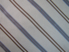 White, Gold & Silver Stripe - Center Street Tie Makers
