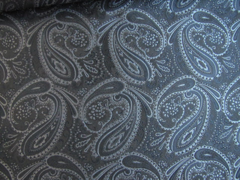 Blue Paisley Silk Fabric